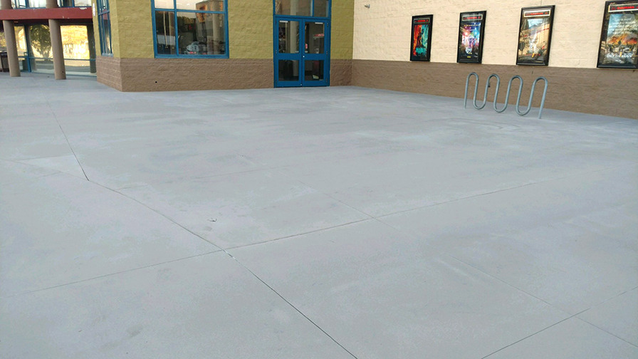Simon HD solved and smoothed the concrete problem this movie theatre was having at their entrance