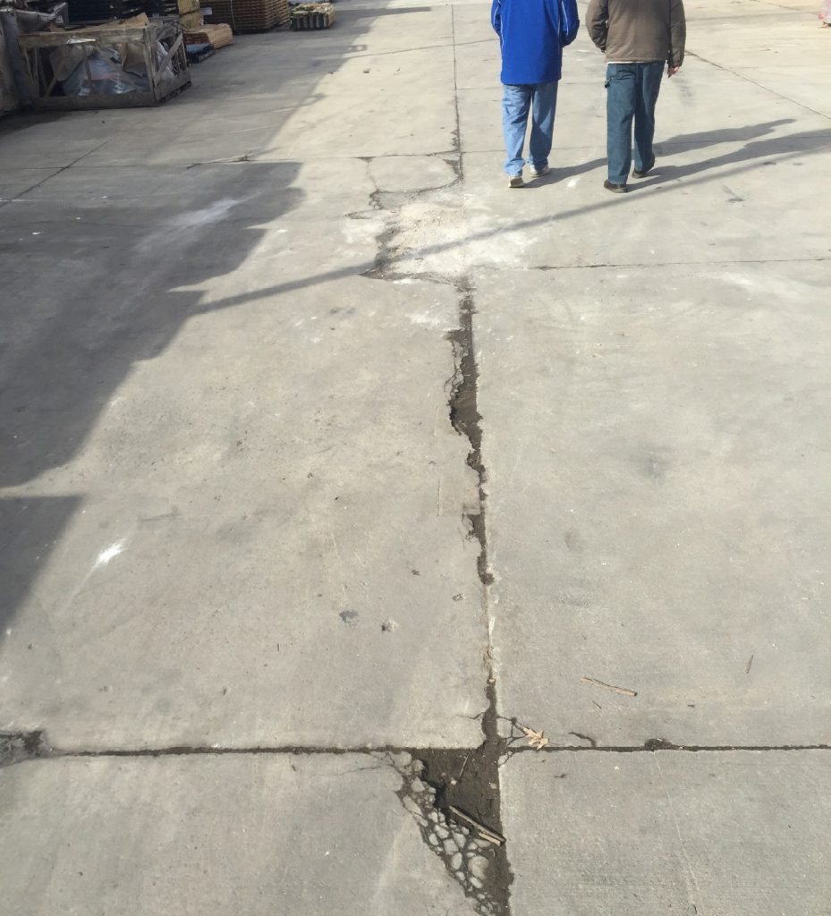 cracked concrete becomes safety hazard for employees and customers