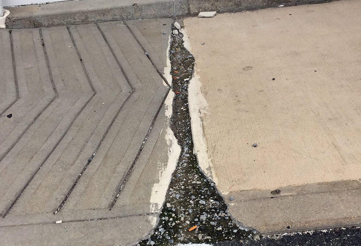 Sidewalks before