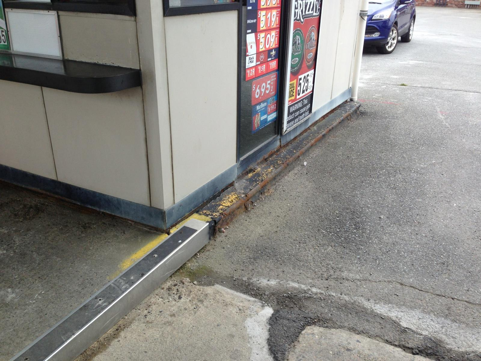 Curb before